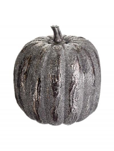 6 inch Silver Glittered Pumpkin, halloween costume (6 inch Silver Glittered Pumpkin)