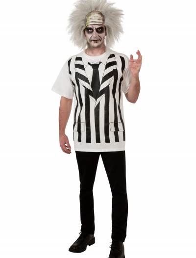 Beetlejuice Shirt/Wig, halloween costume (Beetlejuice Shirt/Wig)