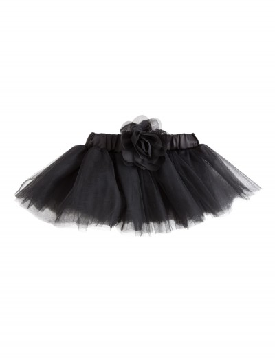 0-18 Months Black Tutu with Flower, halloween costume (0-18 Months Black Tutu with Flower)