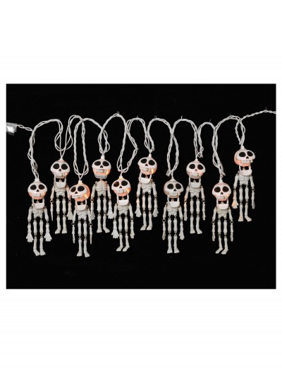 10 Ct. Electric Skeleton String Lights Set, halloween costume (10 Ct. Electric Skeleton String Lights Set)