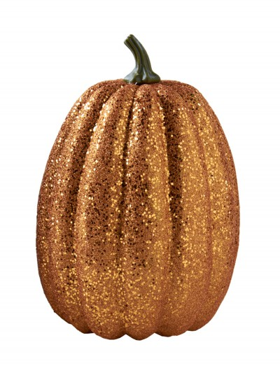 "11"" Tall Orange Glitter Pumpkin, halloween costume (11"" Tall Orange Glitter Pumpkin)"