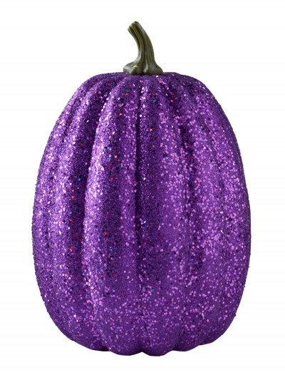 "11"" Tall Purple Glitter Pumpkin, halloween costume (11"" Tall Purple Glitter Pumpkin)"