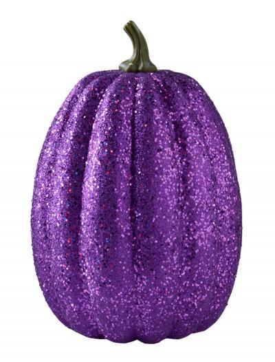 "11"" Tall Purple Glitter Pumpkin, halloween costume (11"" Tall Purple Glitter Pumpkin)"