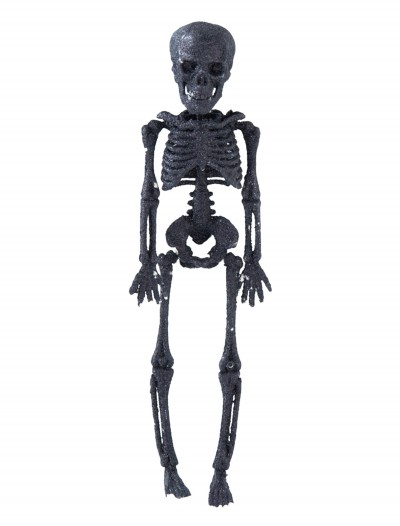 "11.5"" Black Glitter Skeleton, halloween costume (11.5"" Black Glitter Skeleton)"