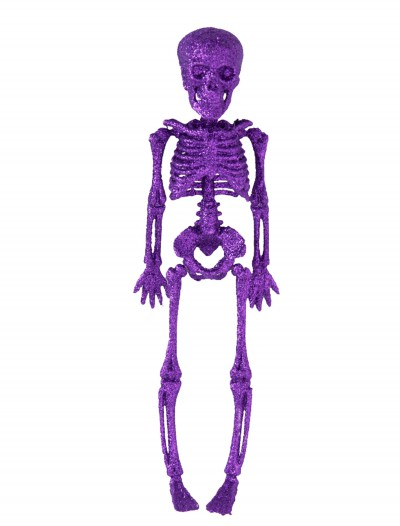 "11.5"" Purple Glitter Skeleton, halloween costume (11.5"" Purple Glitter Skeleton)"