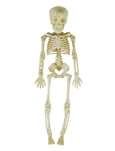 """11.5"""" Silver Glitter Skeleton, halloween costume (11.5"""" Silver Glitter Skeleton)"""