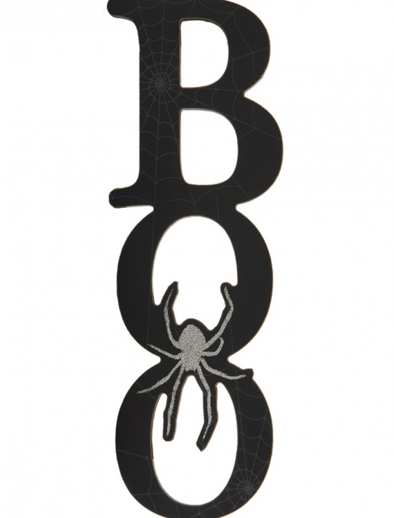 "12"" Black Boo Cutout Wall Plaque, halloween costume (12"" Black Boo Cutout Wall Plaque)"
