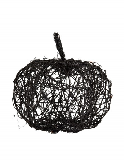 "12"" Black Wire Glitter Pumpkin, halloween costume (12"" Black Wire Glitter Pumpkin)"
