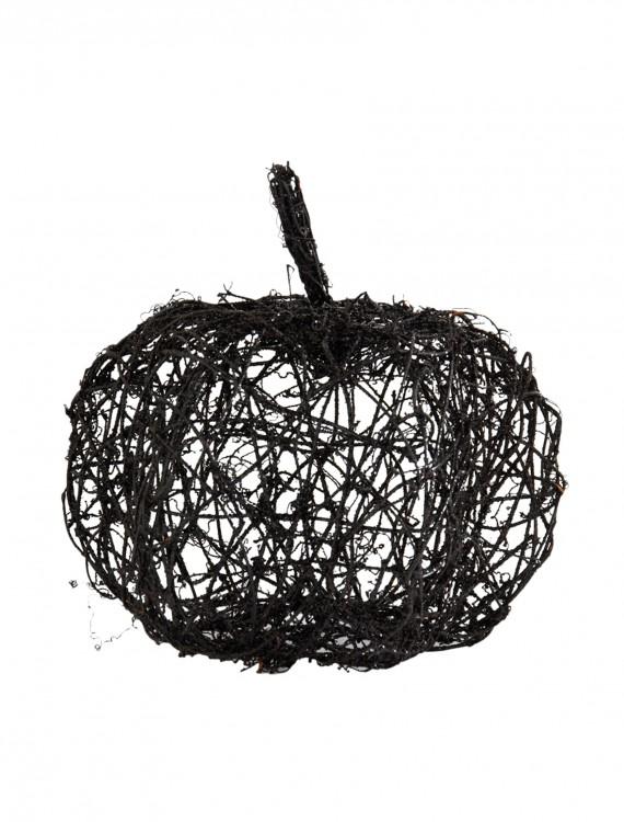 """12"""" Black Wire Glitter Pumpkin, halloween costume (12"""" Black Wire Glitter Pumpkin)"""
