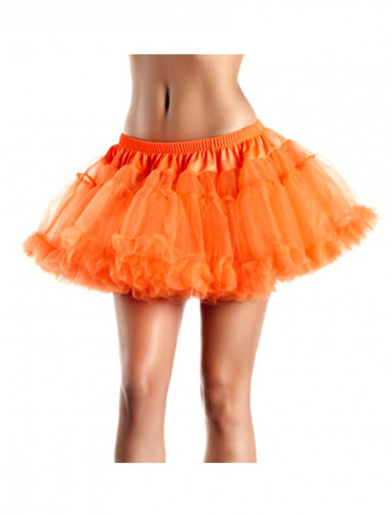 "12"" Orange 2-Layer Petticoat, halloween costume (12"" Orange 2-Layer Petticoat)"