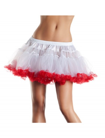"12"" White and Red 2-Layer Petticoat, halloween costume (12"" White and Red 2-Layer Petticoat)"