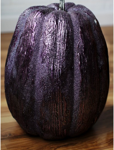 13 Inch Purple Glittered Pumpkin, halloween costume (13 Inch Purple Glittered Pumpkin)