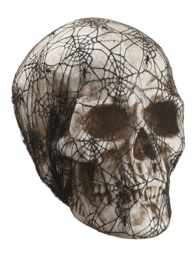 14 inch Laced Spider Web Skull, halloween costume (14 inch Laced Spider Web Skull)