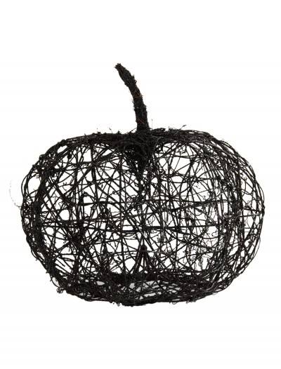 "16.5"" Black Wire Glitter Pumpkin, halloween costume (16.5"" Black Wire Glitter Pumpkin)"