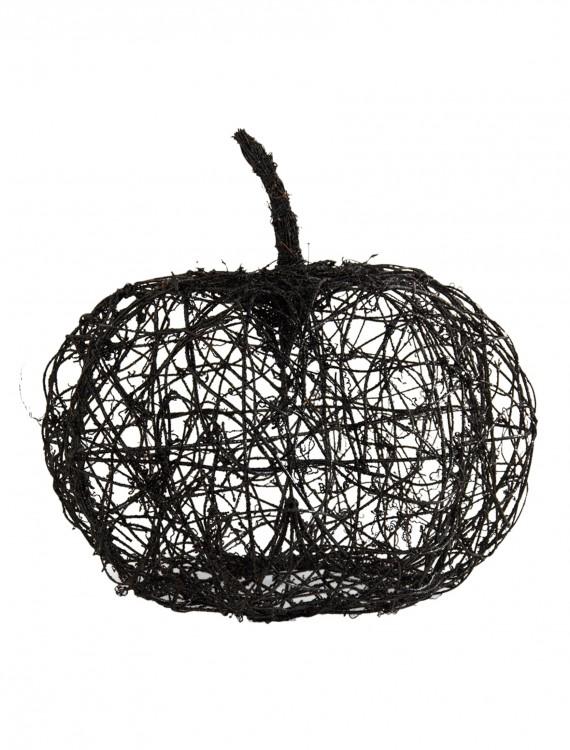 """16.5"""" Black Wire Glitter Pumpkin, halloween costume (16.5"""" Black Wire Glitter Pumpkin)"""