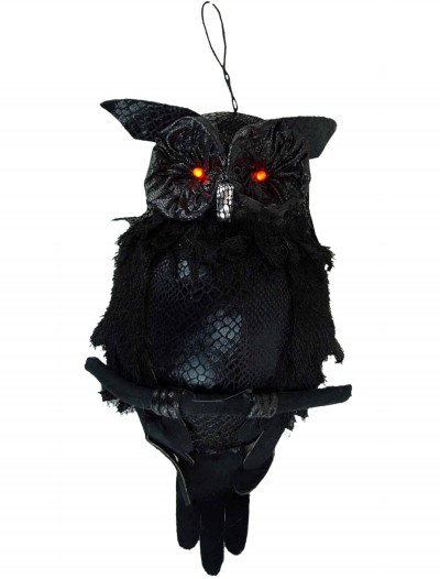 19 In Hanging Owl w/ Light Up Eyes, halloween costume (19 In Hanging Owl w/ Light Up Eyes)