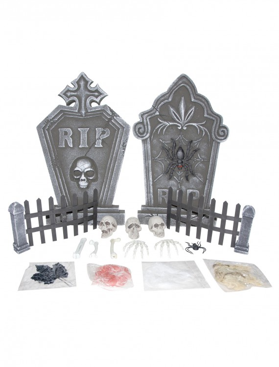 19 Piece Graveyard Kit, halloween costume (19 Piece Graveyard Kit)