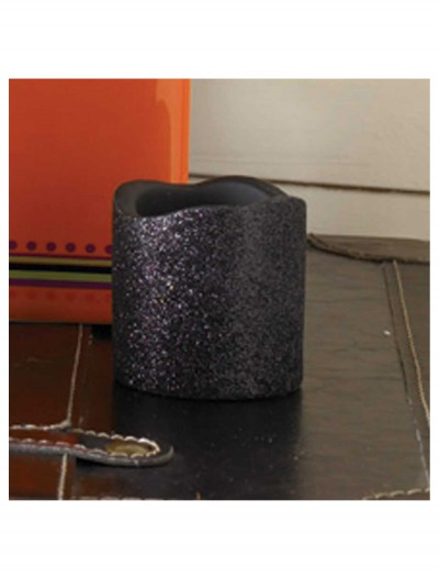 2 Inch Black Glitter LED Candle, halloween costume (2 Inch Black Glitter LED Candle)