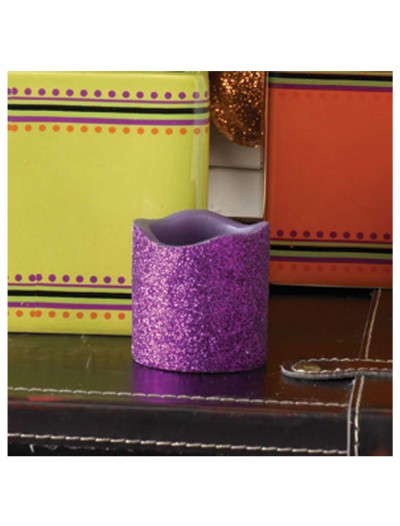 2 Inch Purple Glitter LED Candle, halloween costume (2 Inch Purple Glitter LED Candle)