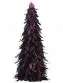 24 Inch Feather Cone Topiary Black and Purple, halloween costume (24 Inch Feather Cone Topiary Black and Purple)