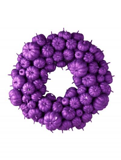 "24"" Purple Glitter Pumpkin Wreath, halloween costume (24"" Purple Glitter Pumpkin Wreath)"