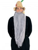 25-inch Long Beard & Mustache Set, halloween costume (25-inch Long Beard & Mustache Set)