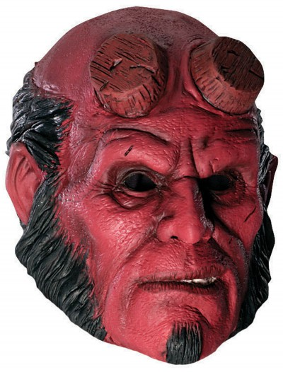 3/4 Latex Hellboy Mask, halloween costume (3/4 Latex Hellboy Mask)
