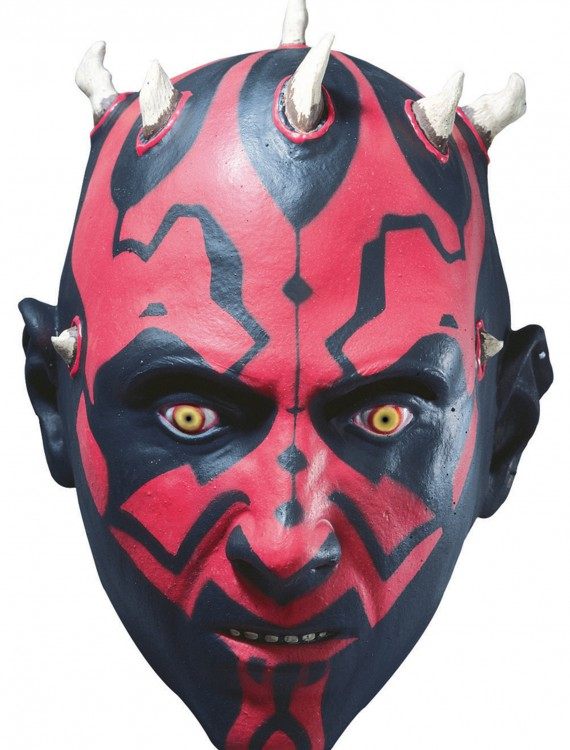 3/4 Vinyl Darth Maul Mask, halloween costume (3/4 Vinyl Darth Maul Mask)