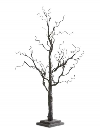 "35"" Black Tree with Glitter and 30 LED Lights, halloween costume (35"" Black Tree with Glitter and 30 LED Lights)"