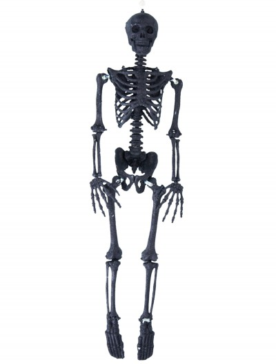 "35.5"" Black Glitter Skeleton, halloween costume (35.5"" Black Glitter Skeleton)"
