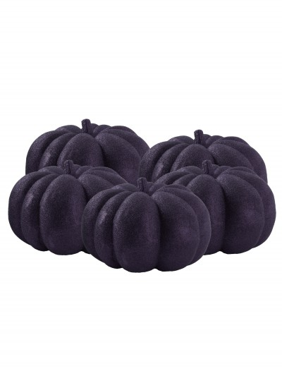 36 Piece Black Glitter Mini Pumpkins, halloween costume (36 Piece Black Glitter Mini Pumpkins)