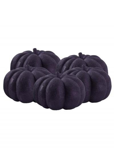 36 Piece Black Glitter Mini Pumpkins, halloween costume (36 Piece Black Glitter Mini Pumpkins)