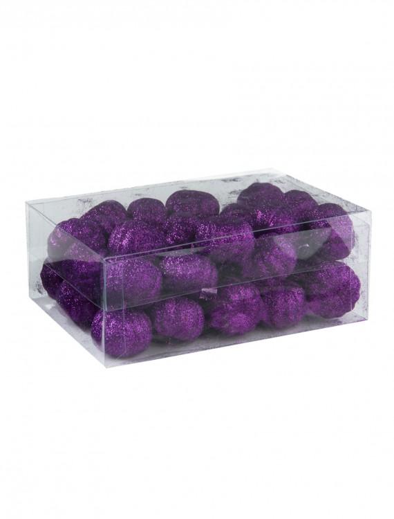 36 Piece Purple Glitter Mini Pumpkins, halloween costume (36 Piece Purple Glitter Mini Pumpkins)