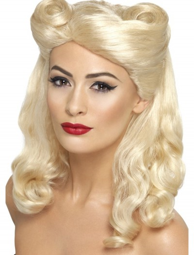 40's Blonde Pin Up Wig, halloween costume (40's Blonde Pin Up Wig)