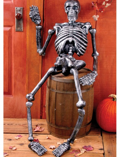 5 FT Metallic Skeleton, halloween costume (5 FT Metallic Skeleton)
