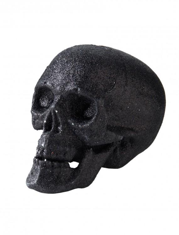 "5"" Small Black Glitter Skull, halloween costume (5"" Small Black Glitter Skull)"