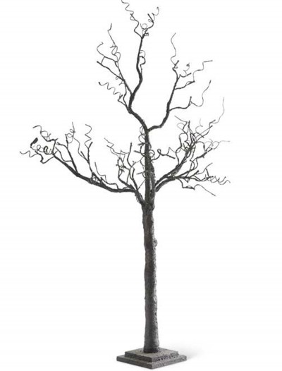 "50"" Black Tree with Glitter and 48 LED Lights, halloween costume (50"" Black Tree with Glitter and 48 LED Lights)"