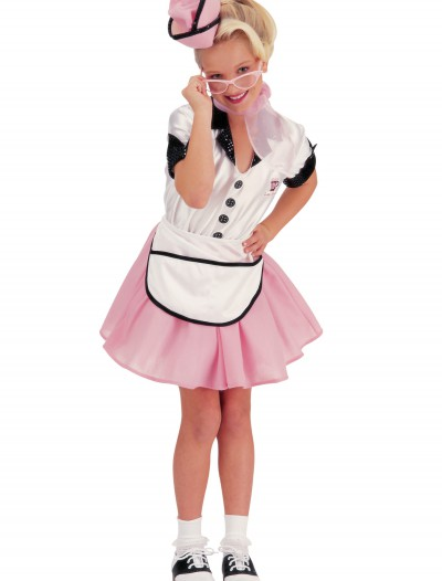 50s Child Soda Pop Girl Costume, halloween costume (50s Child Soda Pop Girl Costume)
