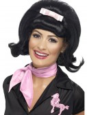 50s Flicked Beehive Black Wig, halloween costume (50s Flicked Beehive Black Wig)