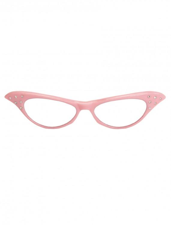 50s Pink Frame Glasses, halloween costume (50s Pink Frame Glasses)