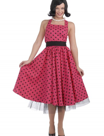 50s Polka Dot Dress Costume, halloween costume (50s Polka Dot Dress Costume)
