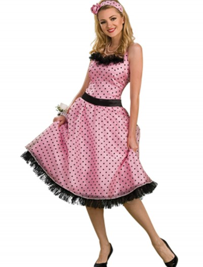 50s Polka Dot Prom Dress, halloween costume (50s Polka Dot Prom Dress)