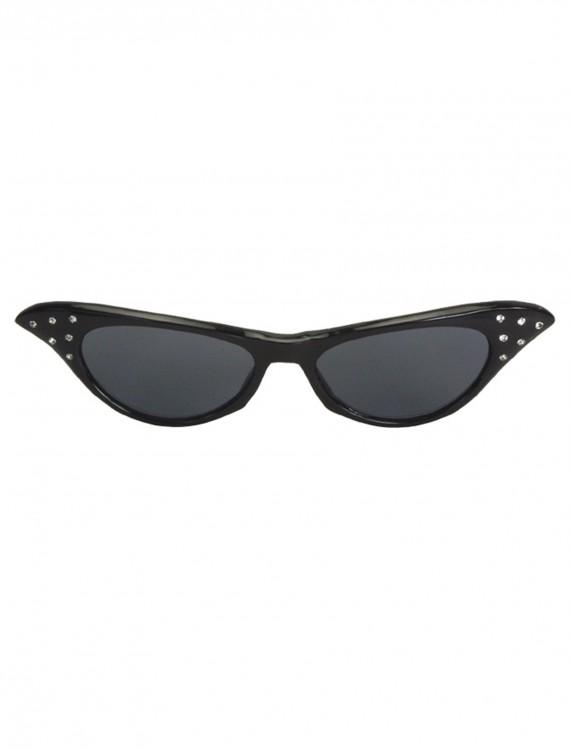 50s Rhinestone Black Sunglasses, halloween costume (50s Rhinestone Black Sunglasses)