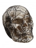 6 inch Spider Web Lace-covered Skull, halloween costume (6 inch Spider Web Lace-covered Skull)