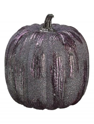 "6"" Purple Glittered Pumpkin, halloween costume (6"" Purple Glittered Pumpkin)"