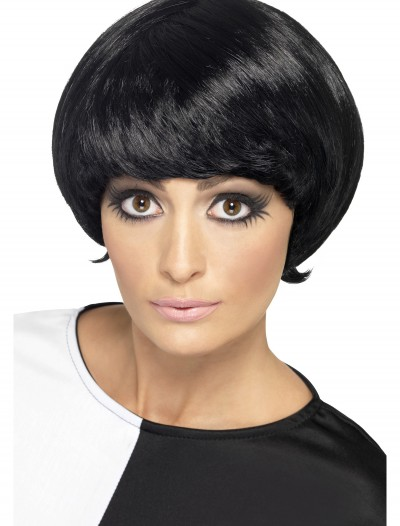 60s Black Psychedelic Wig, halloween costume (60s Black Psychedelic Wig)