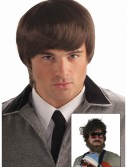60s Mod Brown Mens Wig, halloween costume (60s Mod Brown Mens Wig)