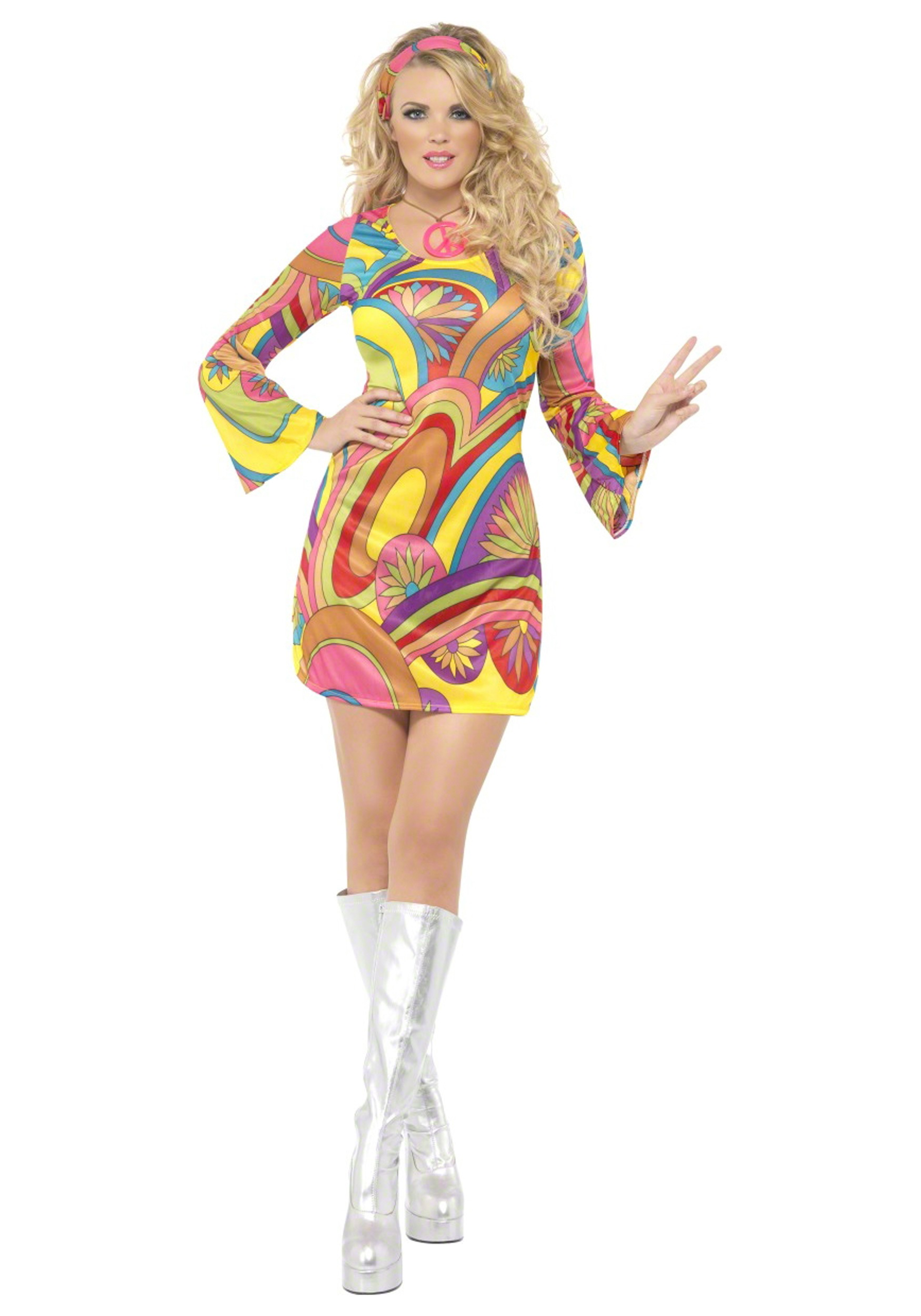 60s Sexy Flower Power Costume  sc 1 st  Halloween Costumes & 60s Sexy Flower Power Costume - Halloween Costumes