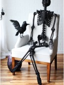 "63"" Black Glitter Skeleton, halloween costume (63"" Black Glitter Skeleton)"