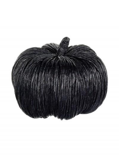 6.5 Inch Black Glittered Pumpkin, halloween costume (6.5 Inch Black Glittered Pumpkin)